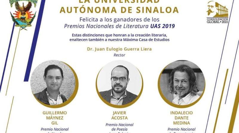 Anuncia UAS a ganadores de los Premios Nacionales de Literatura 2019