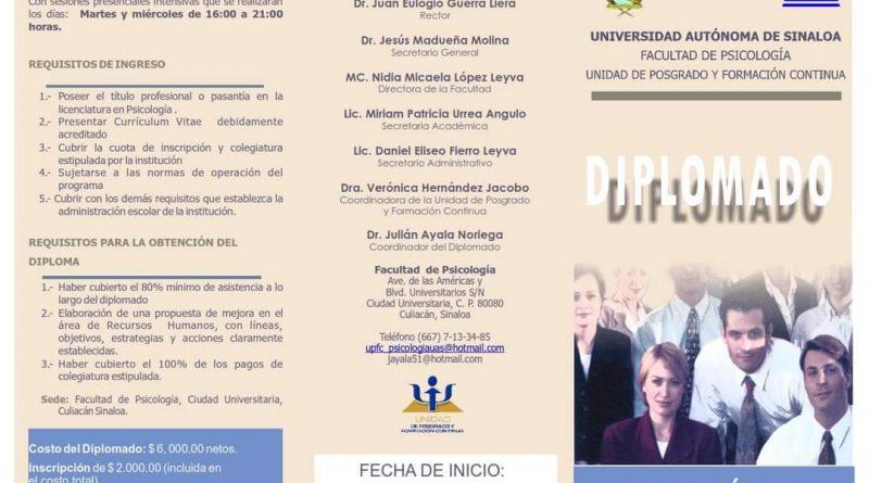 Facultad de Psicología invita a cursar el Diplomado en Gestión de Recursos Humanos