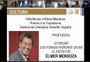 Otorgará la UAS el Doctorado Honoris Causa al escritor Élmer Mendoza